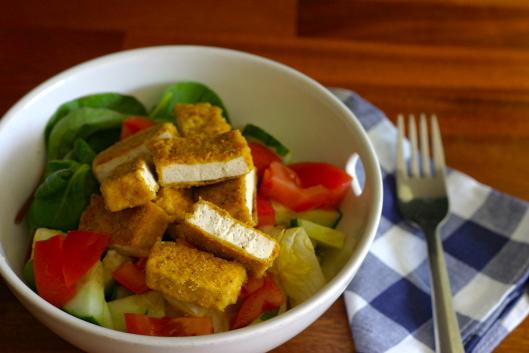 crispy skillet tofu