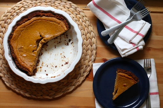 pumpkin pie sweetened with dates and maple syrup