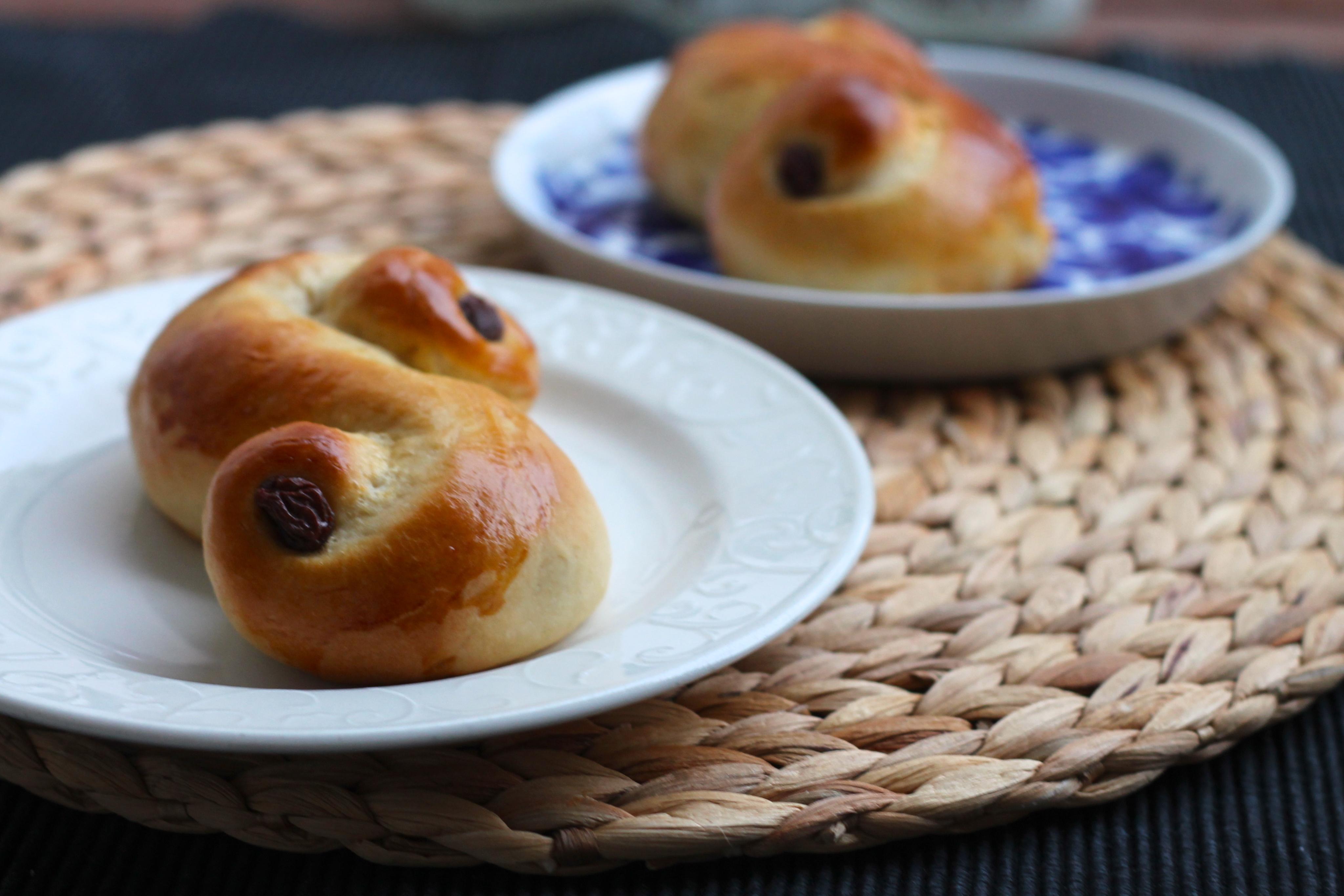 Lucia buns - The Muffin Myth