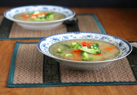 quick spicy miso vegetable soup