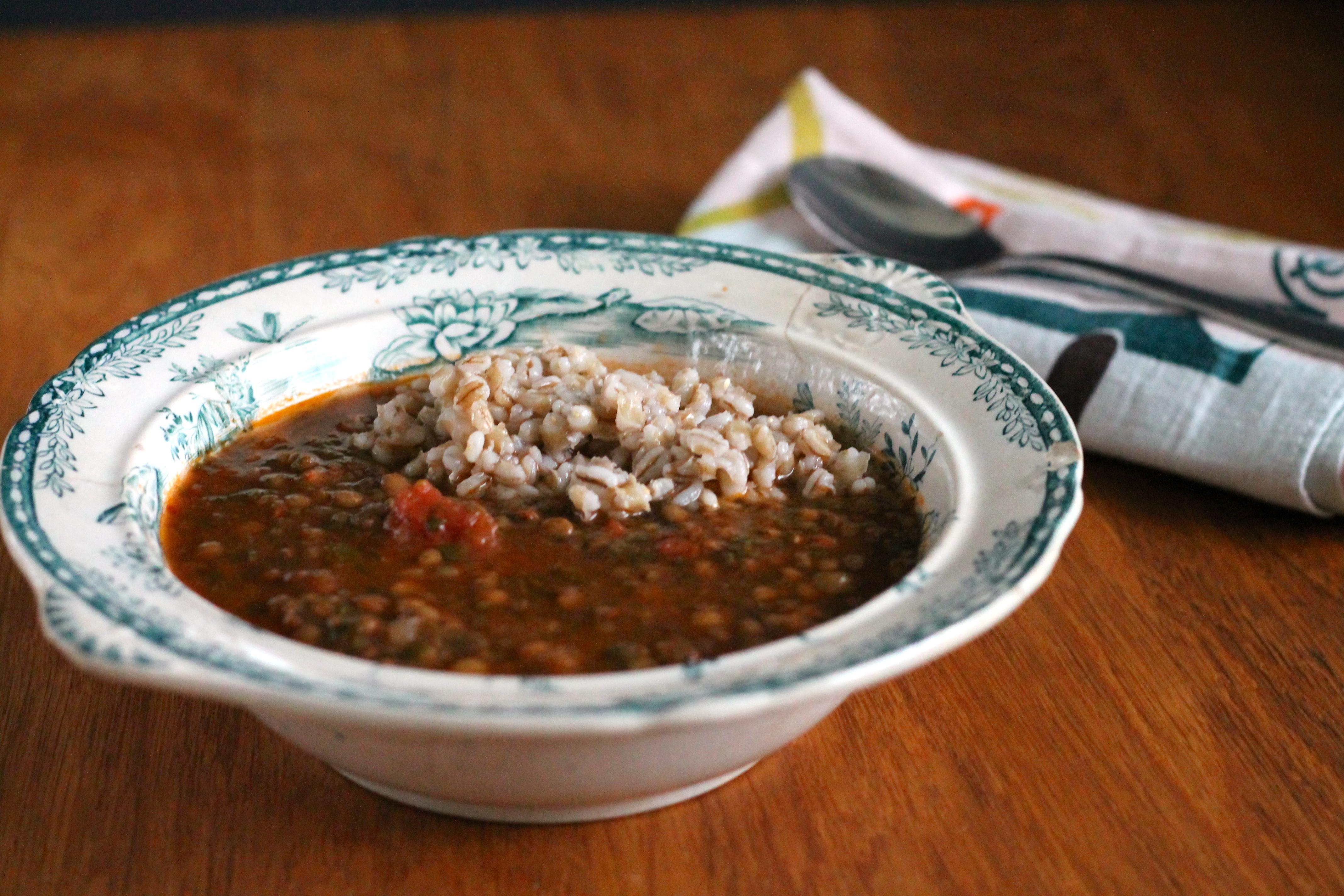 tomato spinach lentil soup