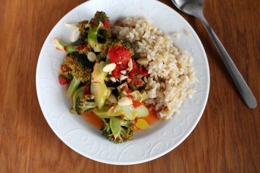 orange braised broccoli // the muffin myth