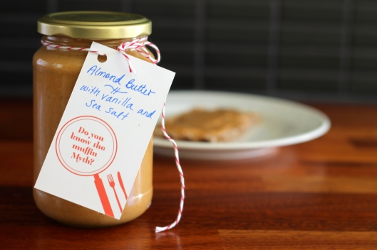 almond butter with vanilla and sea salt