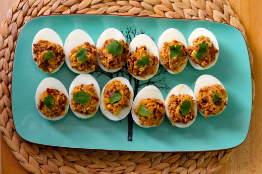 vij's curried devilled eggs