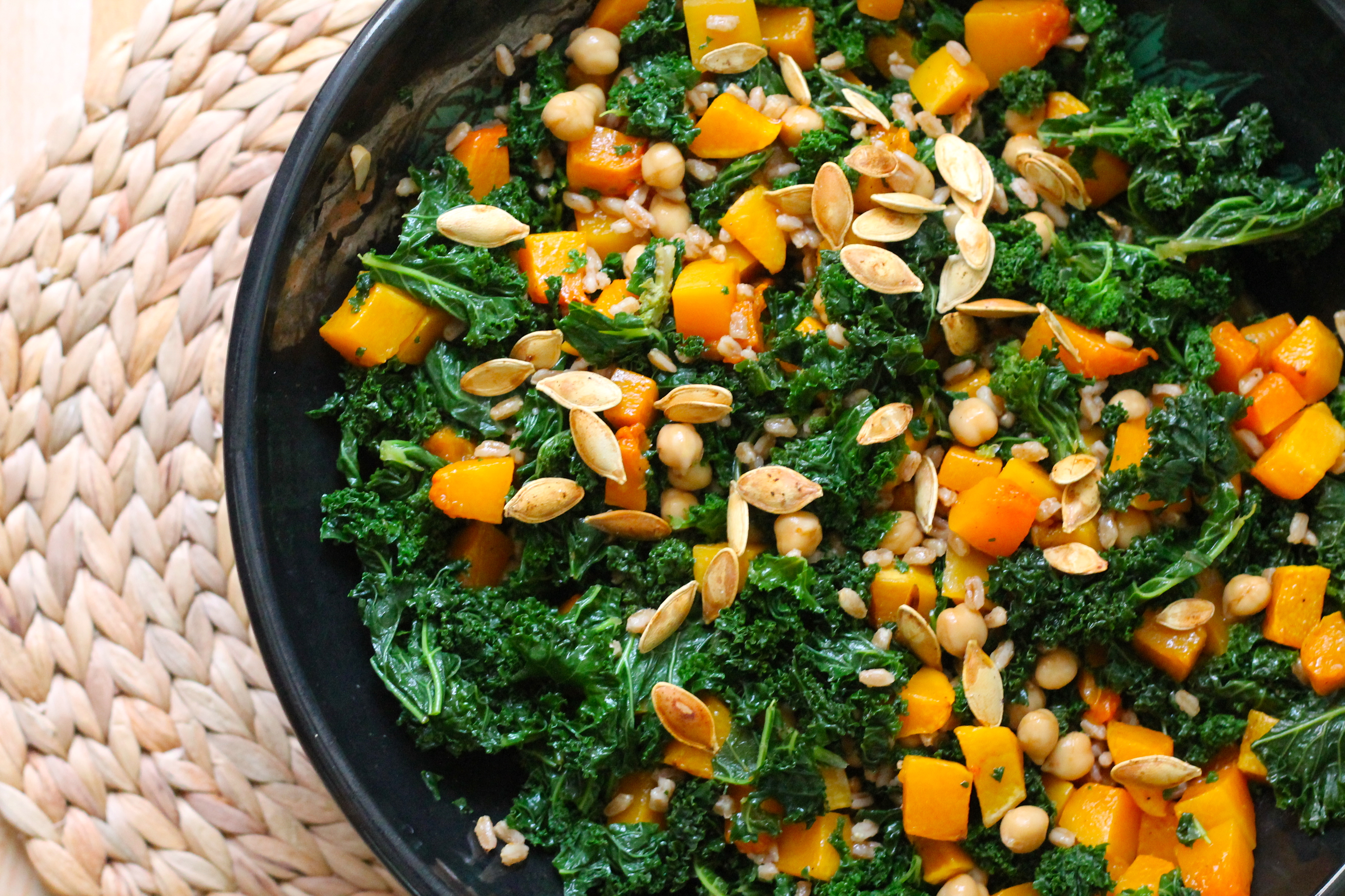 Roasted Butternut Squash And Chickpea Wheatberry Salad ...