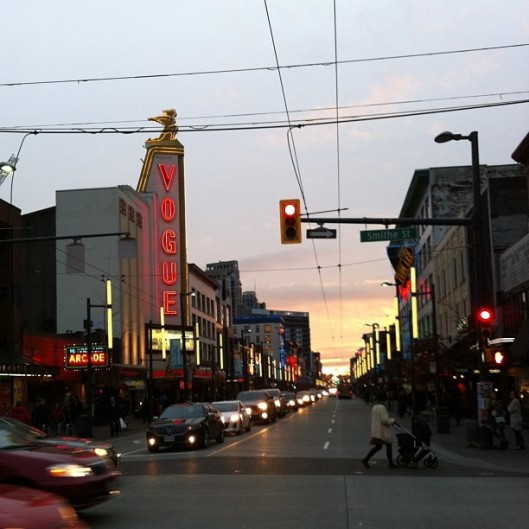 Granville St. Sunset // The Muffin Myth