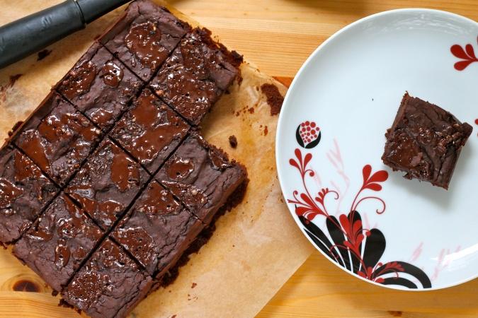adzuki bean brownies // the muffin myth
