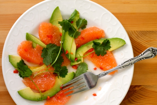 grapefruit and avocado salad // the muffin myth