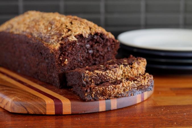 coco cocoa banana bread // the muffin myth