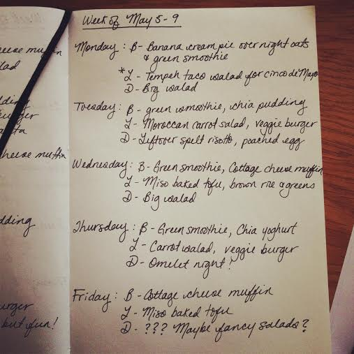 meal plan May 5-9 // the muffin myth