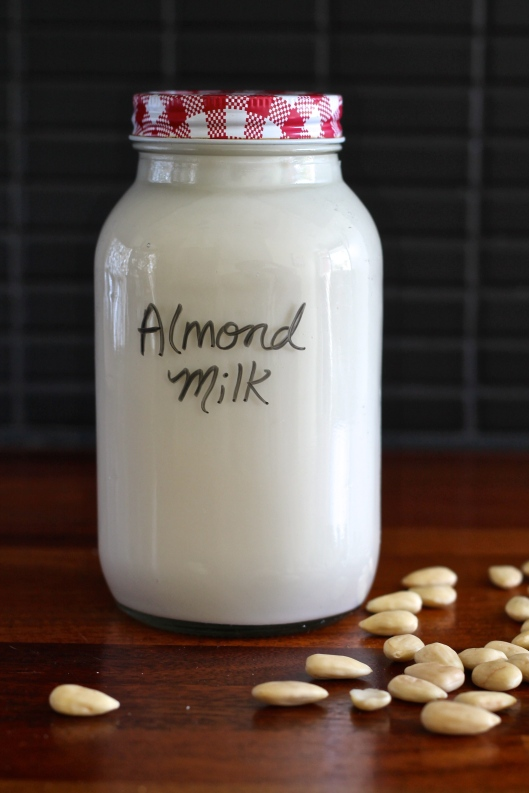 how to make almond milk // the muffin myth