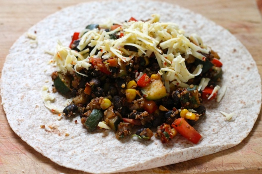 black bean and quinoa freezer burritos // the muffin myth
