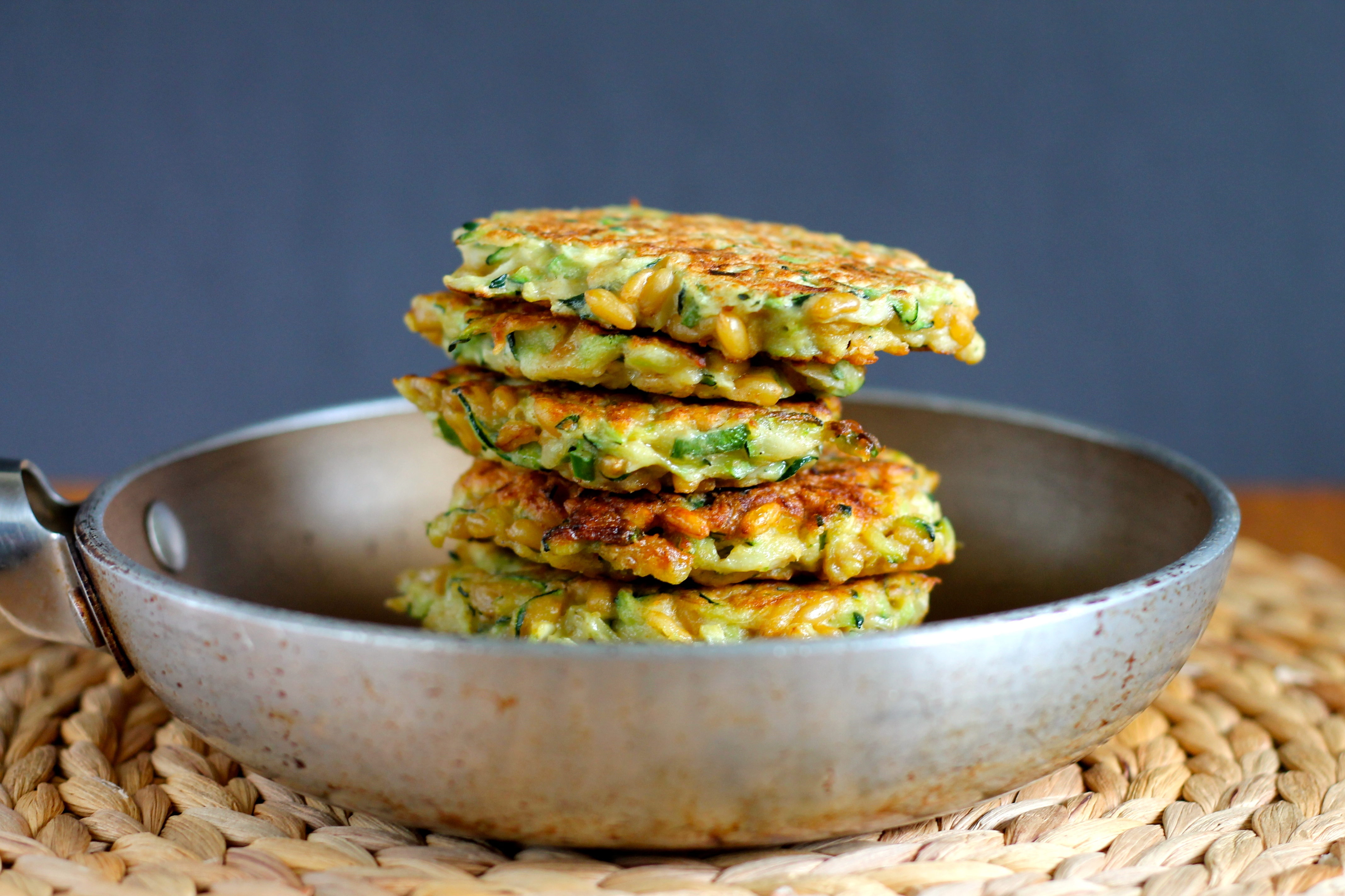 kamut and zucchini fritters hey nutrition lady