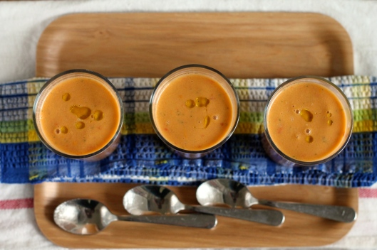 glorious garden gazpacho // the muffin myth