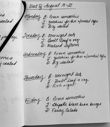 meal plan August 18-22 // the muffin myth